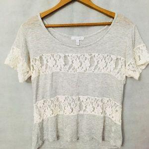 🆕dELiA*s White Floral Lace Top